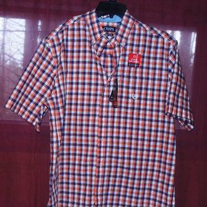 NWT Chaps Mens Button Down S/S Shirt Large Tall